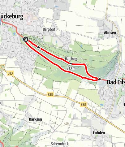 Karte / Wandern im Harrl H 1