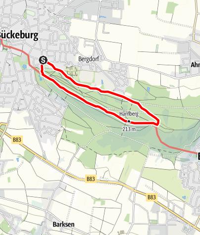 Karte / Wandern im Harrl H 4