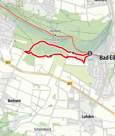 Karte / Wandern im Harrl H 5