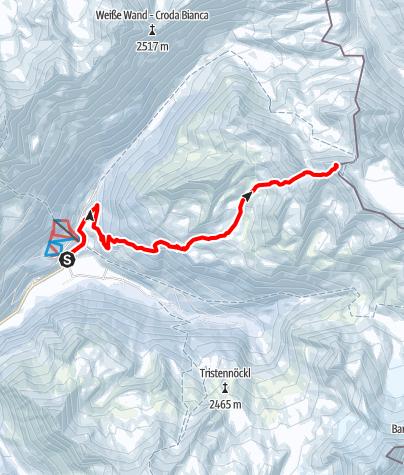 Kaart / Dreieckspitze (3031 m)