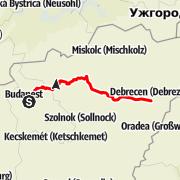 Map / Budapest Debrecen