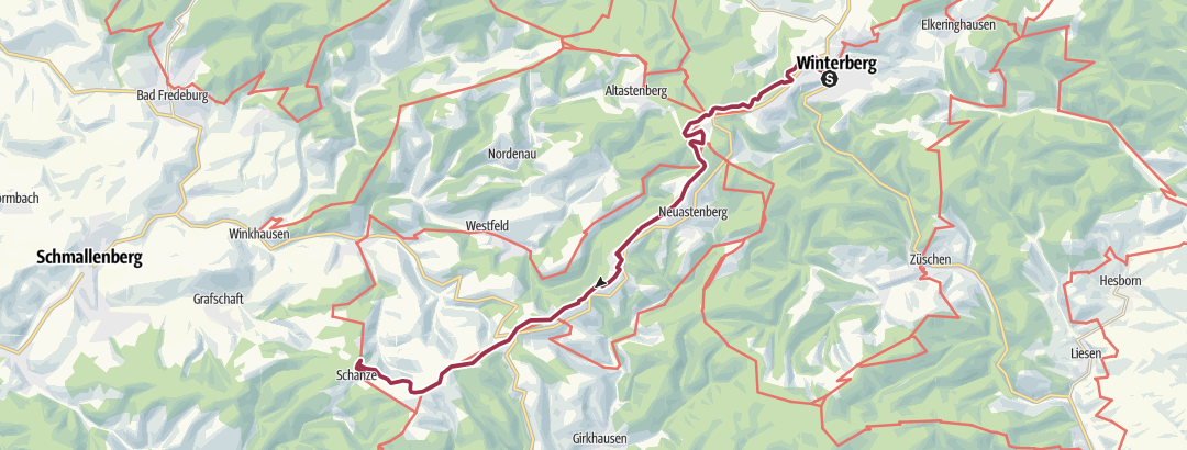 Map / Rothaarsteig 3. Winterberg nach Schanze