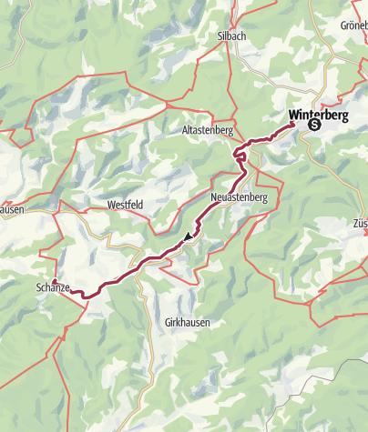 Karte / Rothaarsteig 3. Winterberg nach Schanze