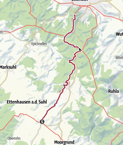 Map / Luther Trail Tour Tip: 'Where it all began' – From Luther's roots in Möhra to Wartburg Castle near Eisenach