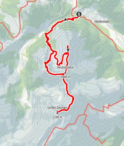 Kaart / Rotspitze + 4 weitere Gipfel