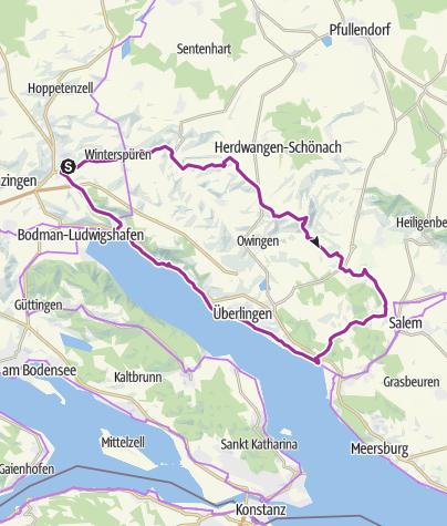 Karte / Stockach-Salem-Überlingen Rundweg