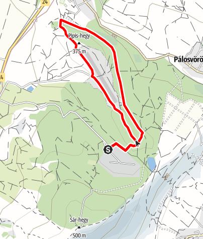 Map / Szt. Anna-tó - Pipis-hegy