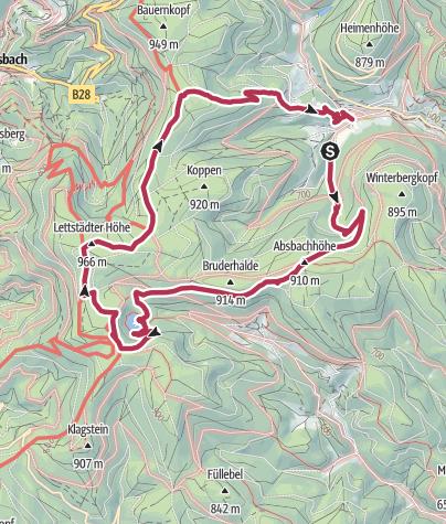 Map / Holzwald - Glaswaldsee - Hilda Hütte