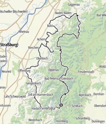 Map / Schwarzwaldhochstrasse - Bad. Weinstrasse