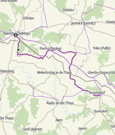 Map / EV13 Etappe 3: Slavonice - Drosendorf