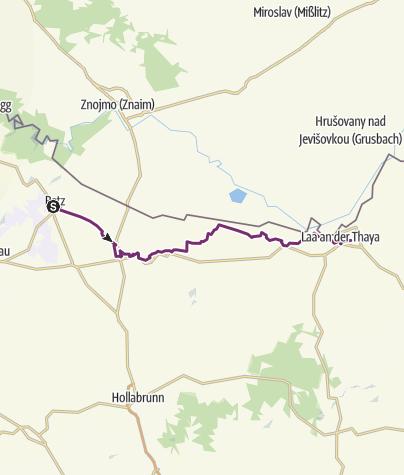 Map / KTM Etappe 6: Retz – Laa