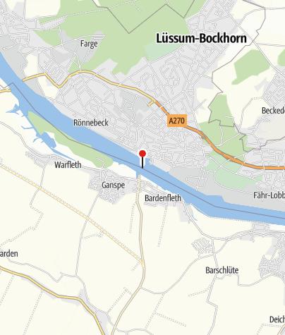 Karte / Weserfähre Blumenthal-Motzen