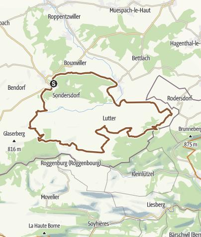 Carte / 3 au cœur du jura alsacien