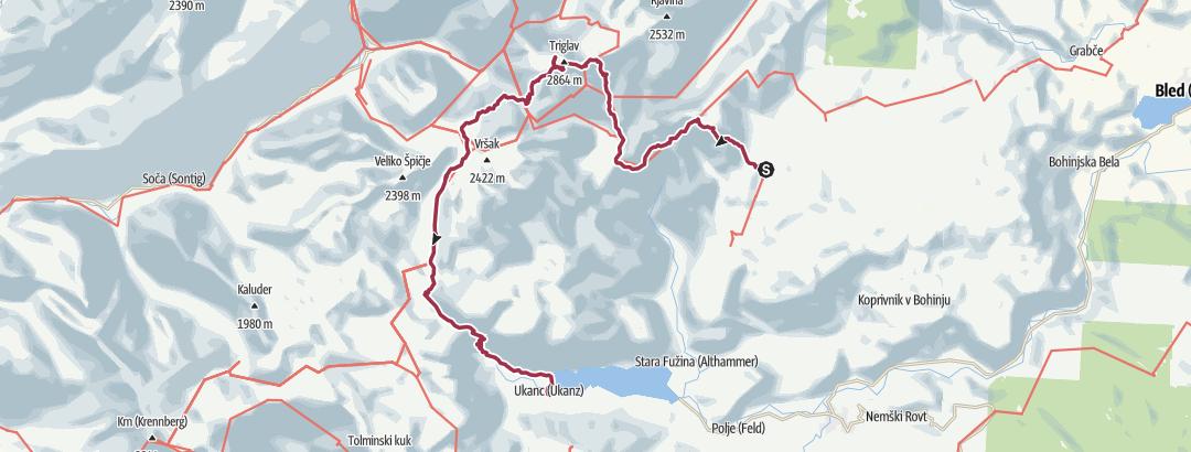 Map / Triglav bis Ukanc