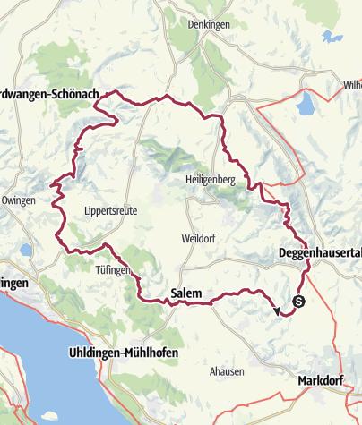 Karte / MTB 9. Juli 2020 Hohenbodman