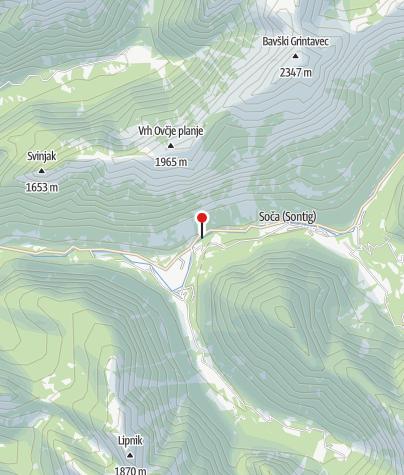 Map / Die kleine Soča Schlucht