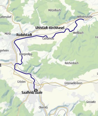 Karte / Saale - Wasserwandern von Saalfeld bis Uhlstädt - Etappe 6