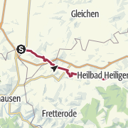 Karte / Göttinger Land: Pilgerweg Loccum - Volkenroda. Etappe 15, Friedland - Heiligenstadt