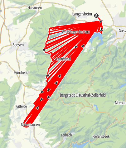Karte / Tag 2 Astfeld-Badenhausen