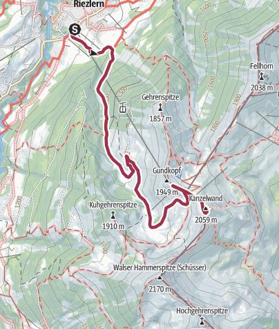 Karte / Riezlern Kanzelwand
