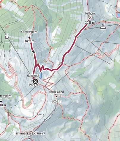 Karte / GEHRENSPITZE, FELLHORN