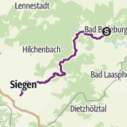 Kaart / Bad Berleburg - Siegen Schleifenroute Etappe 85 R