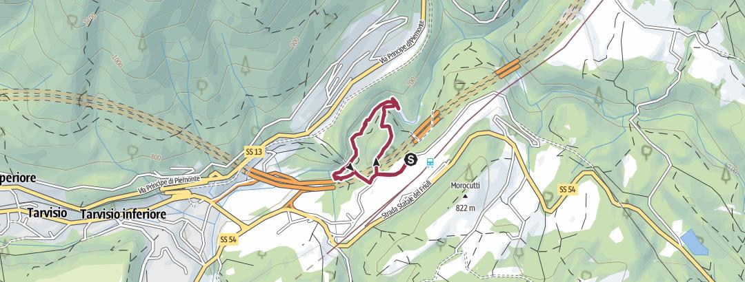 Map / Orrido dello Slizza