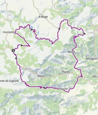 Carte / Lanarce-Gerbier