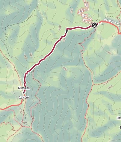 Map / Varful Giumalau