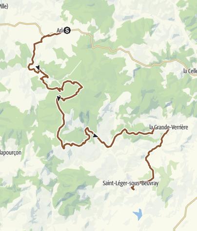 Carte / GTM étape 4/5 Arleuf-St Léger sous Beuvray