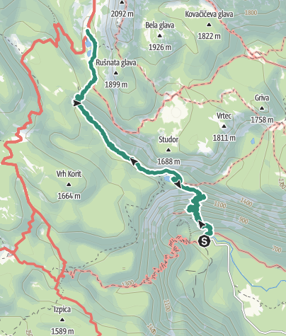 Map / Parking Lot Savica to Koča pri Triglavskih