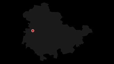 Map / Circular hiking trail - gorge tour near Eisenach - Thuringian Forest