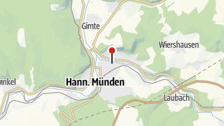 Karte / Hann. Münden Wohnmobilstellplatz Werraweg