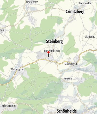 Mapa / Sparkasse Vogtland - Filiale Rothenkirchen