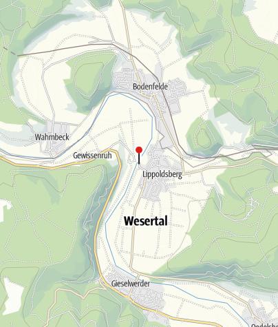 Karte / Weserfähre Lippoldsberg-Vorwerk