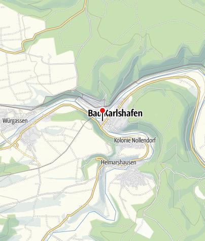 Karte / Schiffsanlegestelle Bad Karlshafen Linie 2000