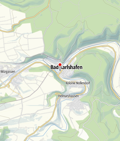 Karte / Schiffsanlegestelle Bad Karlshafen Flotte Weser