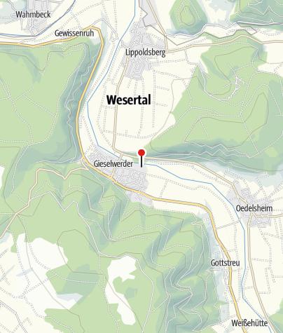 Karte / Kanuanlegestelle Gieselwerder