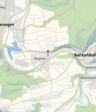 Karte / Kanuanlegestelle Würgassen