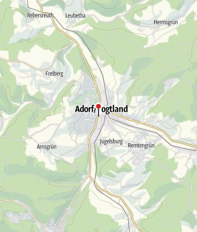 Karte / Sparkasse Vogtland – Geldautomat Adorf