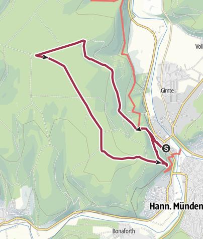 Karte / Tillyschanze - Mündener Stock