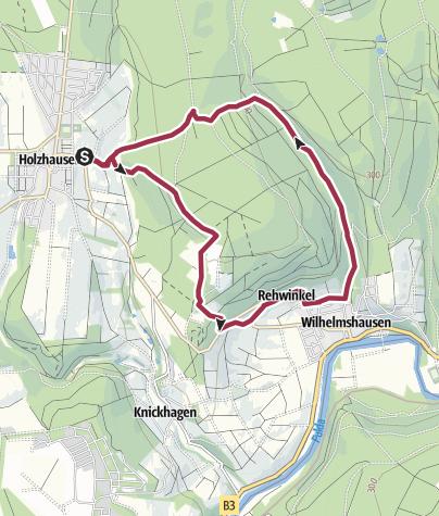 Karte / Holzhausen - Termenei - Wilhelmshausen