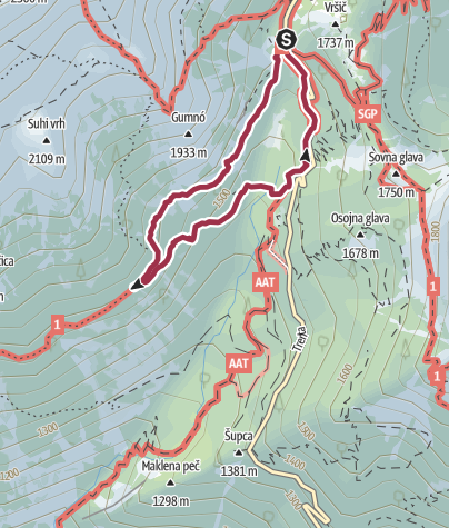 Map / Simple, nice and short mountainside tour