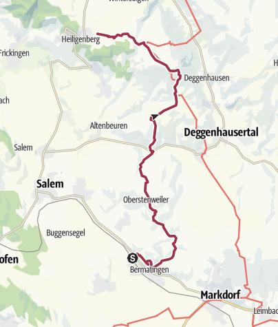 Karte / Bermatingen-Heiligenberg