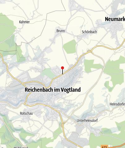 Karte / Sparkasse Vogtland - Geldautomat Reichenbach Nord