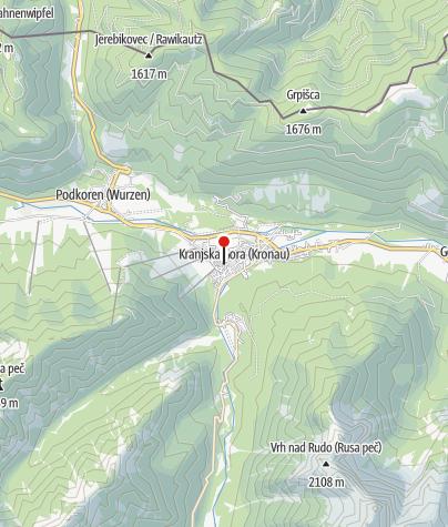 Zemljevid / Parkplatz in Kranjska Gora