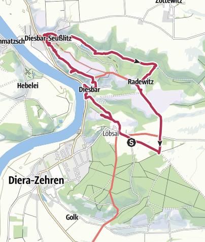 Karte / Durch die Weinberge von Diesbar - Seußlitz