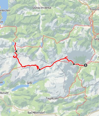 Karte / Totes Gebirge Ost nach West