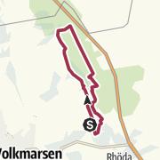 """Karte / Wandern im Rhöder Holz - Vom Waldlehrpfad """"Hoher Steiger"""" zum Försterhäuschen """"Weißes Haus"""""""