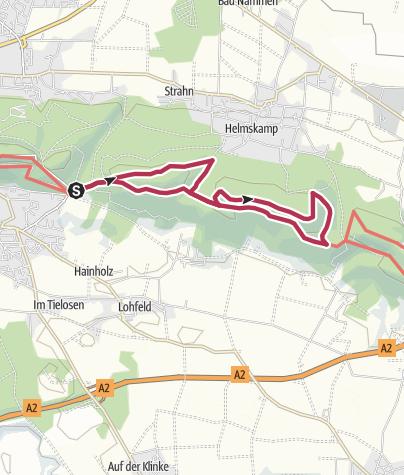Karte / Nammer Lager und Nammer Klippen von Levernsiek aus